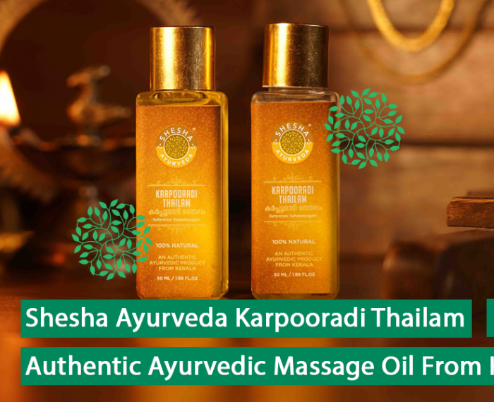 Shesha Ayurveda Karpooradi Thailam - Authentic Ayurvedic Massage Oil from Kerala